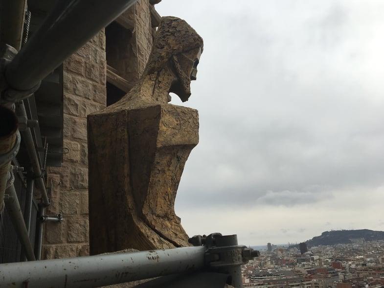 Proctor en Segovia at Gaudí's Sagrada Familia