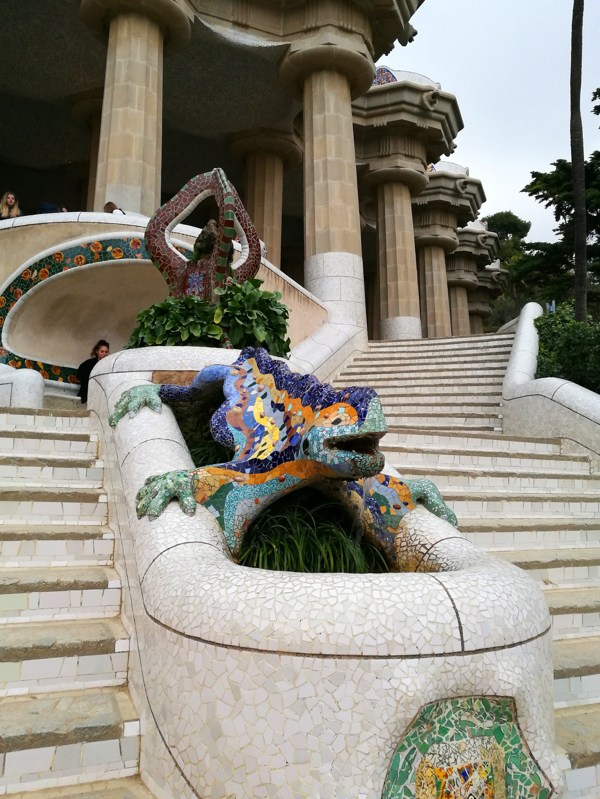 Proctor en Segovia visits Parque Guell