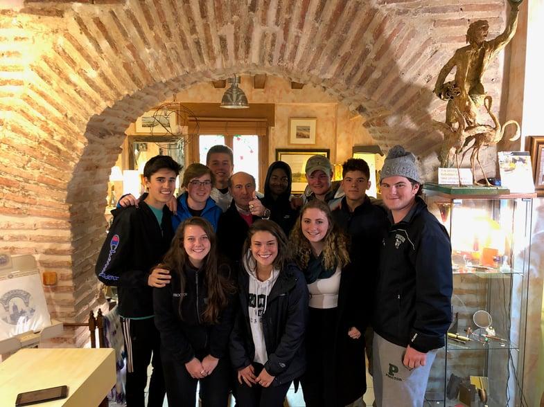 Proctor en Segovia with metal arts teacher Jesus